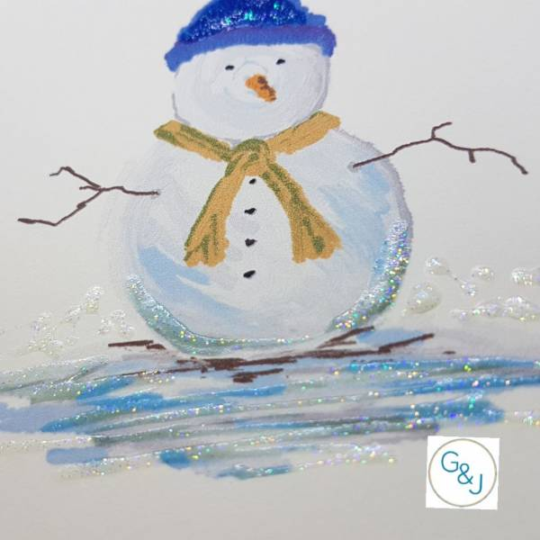 Snowman -Greetings and Jot