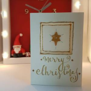 Christmas Star Christmas card -Greetings and Jot