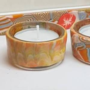Corals tea light set