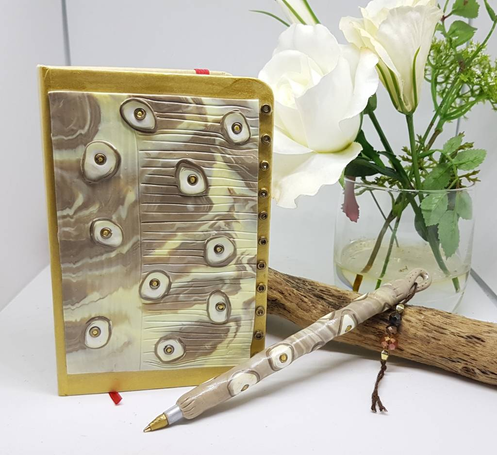 Marble effect notebook set - Greetings and Jot