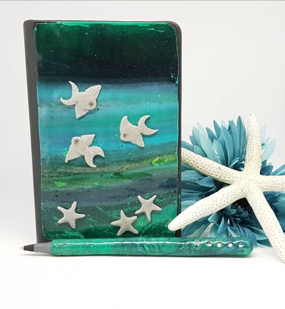 Deep blue Sea notebook and pen set- Greetings and Jot