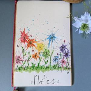 Wild Flowers - Decorated Notebook